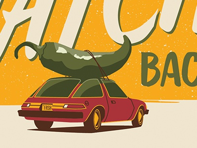 WIP food car hatchback hatch chile chile tote