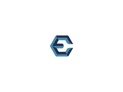 E is for Epic logo design negative space e branding logo