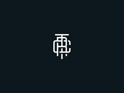 TRC Monogram type design design brand identity monogram
