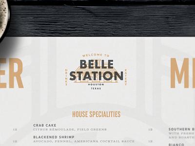 Belle Station logo design logosystem