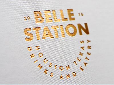 Belle Station Type Treat typography logo design logosystem