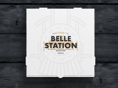 Belle Station Delivery materials typography logo design logosystem