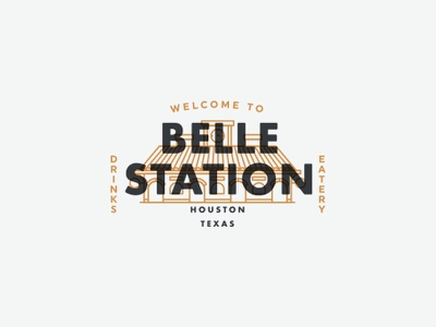 Belle Station environmental graphic typography logo design logosystem
