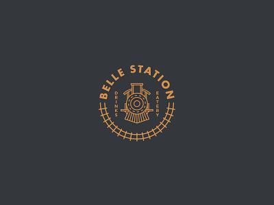 Belle Station variation symbol badge typography logo design logosystem