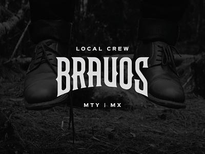 Bravos symbol badge typography logo design logosystem