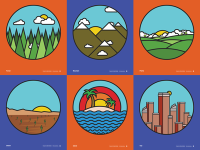 Landscape Vector Illustrations