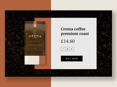 Coffee buying UI website design ux flat minimal web ui