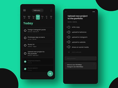 TASKR - Task Management App UI manager task app ux minimal flat