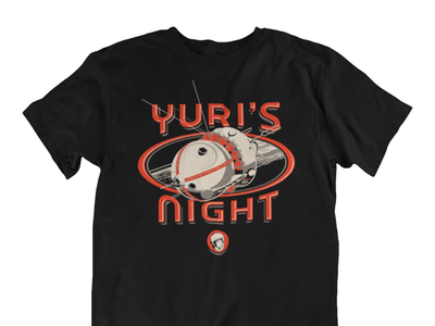 "Yuri's Night tee shirt, ""First Spaceship"""