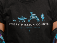 Every Mission Counts Tee for The Planetary Society