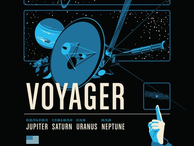 Voyager Poster (Lower 1/3 Detail)