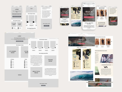 RVCA Landing Page - Bikini Village ecommerce web ux ui design