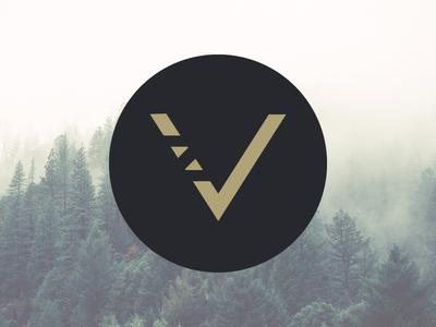 Logo Vincent ZIMMER logo new letter v round forest