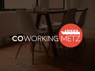 Coworking Metz coworking houseboat work logo logotype