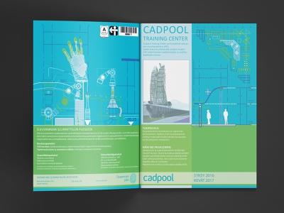 Bifold Schedule for CAD Training company - Outside calendar floorplan cad graphic design timetable drafting building schedule bifold mechanical drawing technical drawing architecture blueprint engineer archicad autodesk print design print vector adobe illustrator