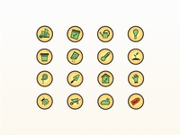 Iconset for a Urban Gardening Store