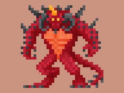 Kneel before the Lord of Terror pixel art hots heroes of the storm diablo