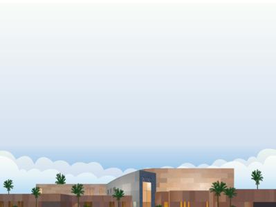 Musical Instrument Museum art skyline illustration illustrator design fyresite phoenix arizona vector flat building architecture
