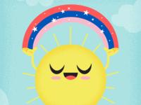 Sun and Magic Rainbow