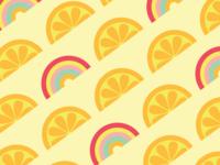 Lemon Rainbow Surface Pattern