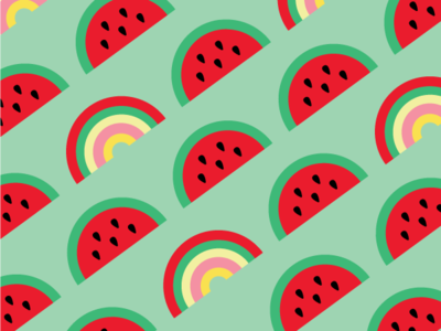 Watermelon Rainbow Surface Pattern Design