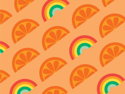 Orange Rainbow Surface Pattern Design