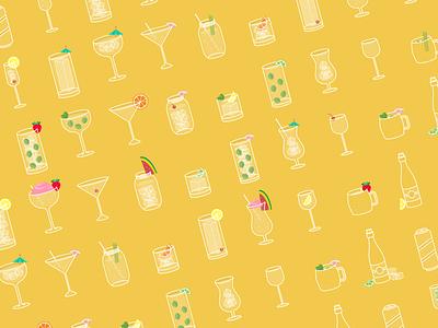 Drinks drinks cocktails icon design illustration design