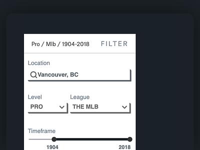 Titletowns Filter interaction design dataviz design