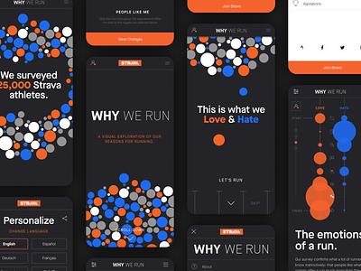 Why We Run design interaction design mobile design data design dataviz