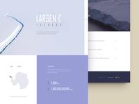 Larsen C Iceberg - Landing page