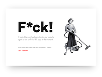 404 Page—UI Weekly Challenges-Season 02 / Week [2/10] cleaning ui website white minimal typography clean page 404