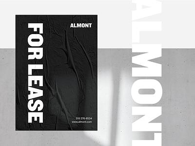 Almont Brand Identity typography logotype logo simple black poster clean identity branding
