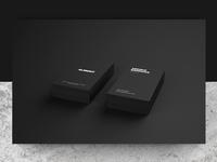 Almont Brand Identity business card mockup logotype logo black clean simple identity branding