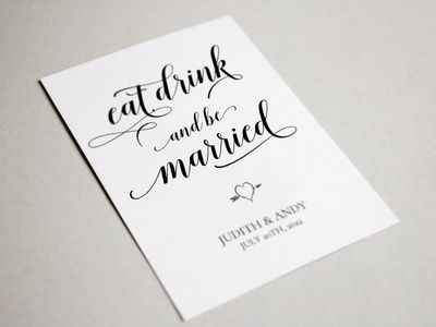 Free Eat Drink and Be Married Sign Template