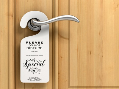 Free Printable Door hanger Template for Wedding