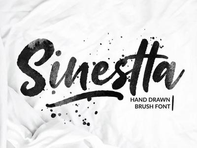 Sinestta - Free Hand Drawn Brush Font