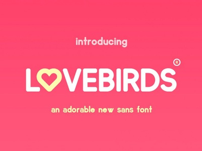Lovebirds Free Sans Font