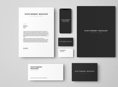 Free Stationery Branding Set Mockup