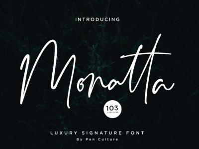 Monatta Free Signature Font