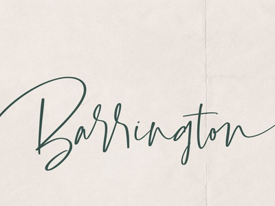 Barrington Free Calligraphy Font