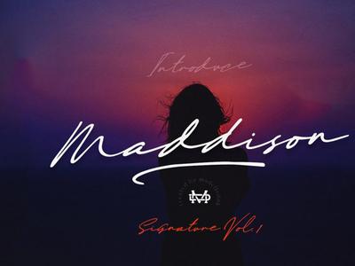 Maddison Free Signature Font