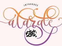 Alarate Free Script Font