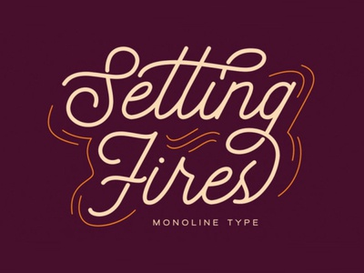 Seting Fires - Free Monoline Font