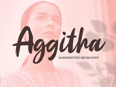 Aggitha Free Brush Font