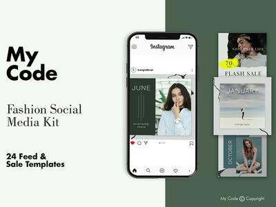 Free Fashion Instagram Post Mockup