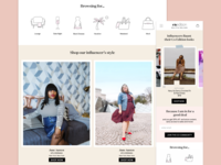 Landing page for ecommerce website Coedition
