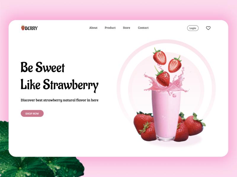 House of Strawberry - Website food branding web ux ui design