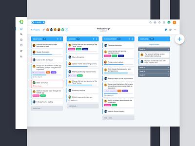 Tasks sidebar project manager tasks web dashboard ux ui clean icons flat app