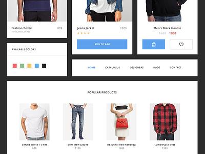 E-commerce UI Kit [freebie] product shop e-commerce clean app web widget freebie flat kit ui