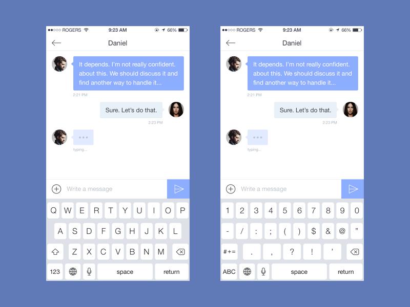 iOS keyboard [freebie] by Adrian Goia on Dribbble